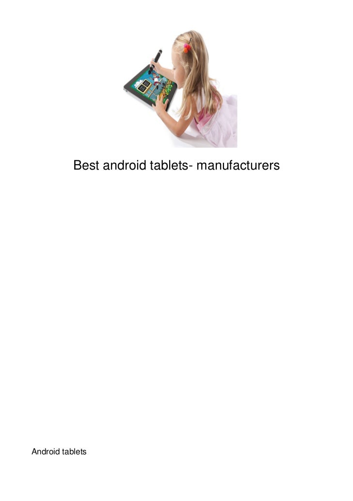 Best android tablets- manufacturersAndroid tablets