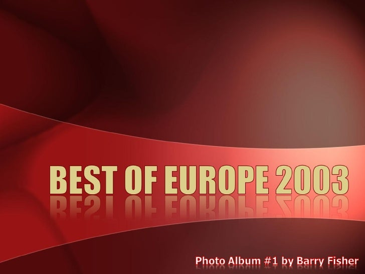 Best Of Europe 2003   1