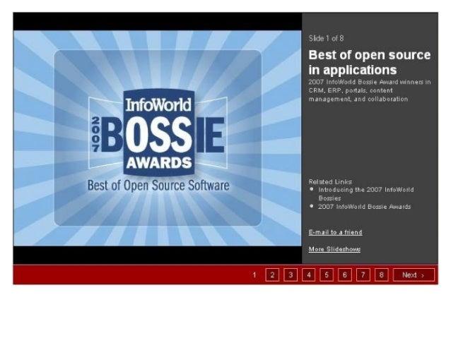 Best of open source in applications