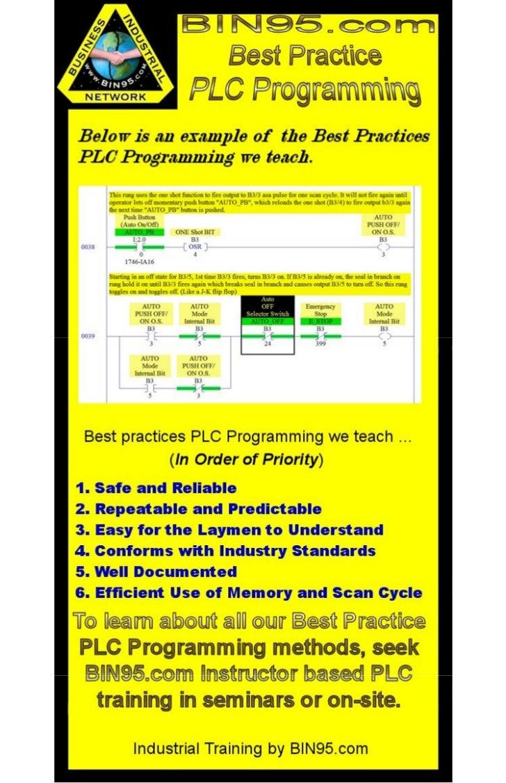 Best Practices in PLC Programming
