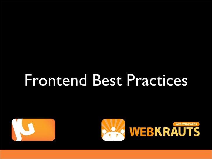 Frontend Best Practices