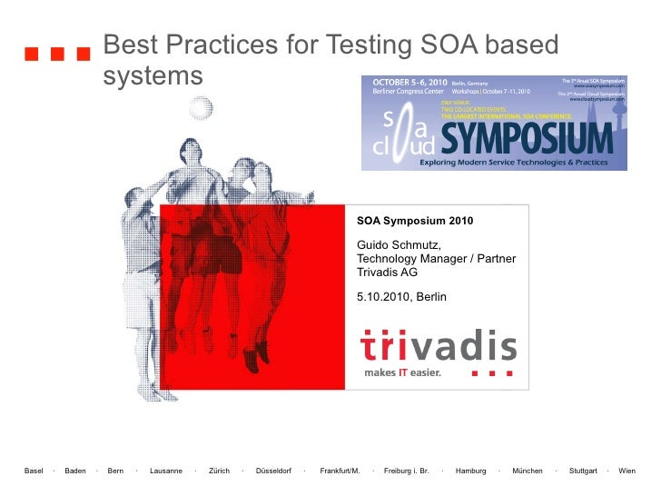 Best Practices for Testing SOA based  systems SOA Symposium 2010 Guido Schmutz, Technology Manager / Partner Trivadis AG 5...