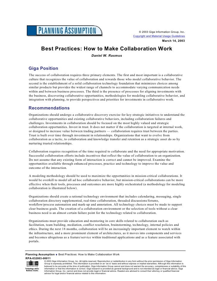 Best Practices   How To Make Collaboration Work