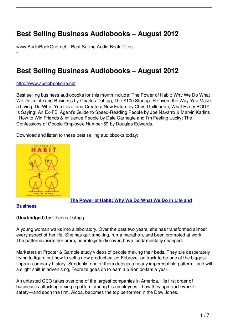 Best Selling Business Audiobooks – August 2012www.AudioBookOne.net – Best Selling Audio Book Titles-Best Selling Business ...