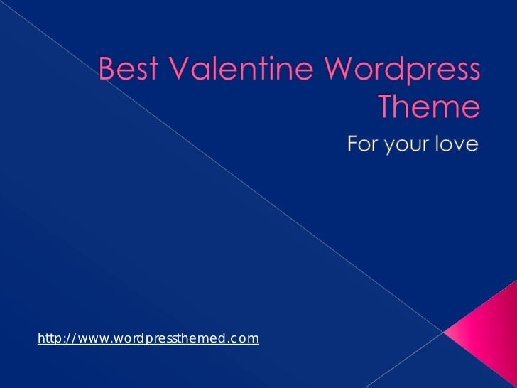 Best Valentine Wordpress Theme