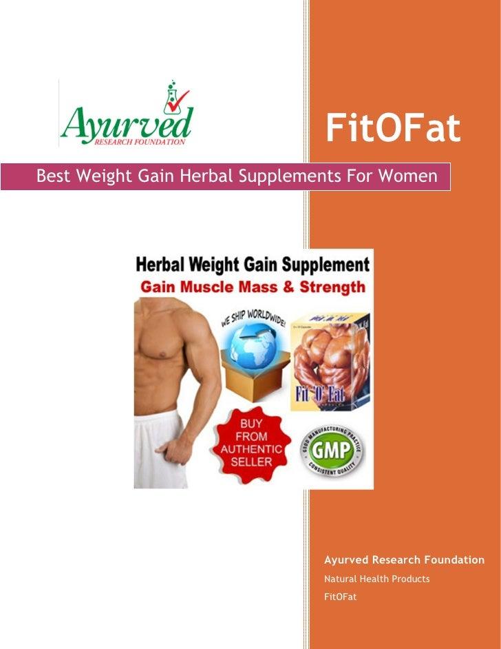 Women Weight Gain Supplement