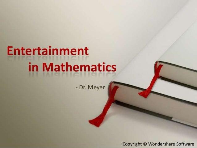 - Dr. Meyer              Copyright © Wondershare Software