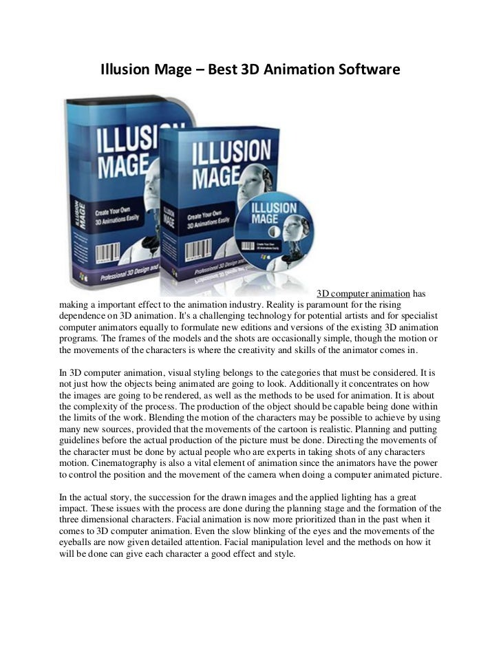 Illusion Mage – Best 3D Animation Software                                                                   3D computer a...