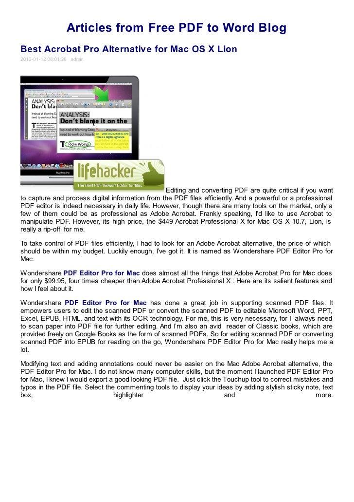 pdf reader free download mac os x