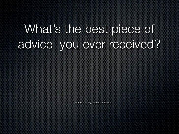 Best advice post