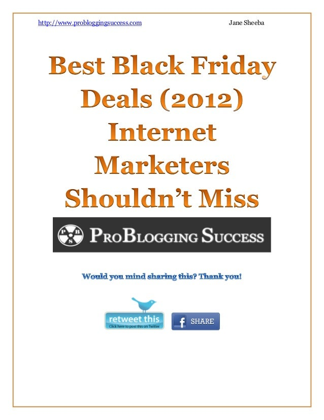 Collection Of Best Internet Marketing Black Friday / Cyber Monday Deals