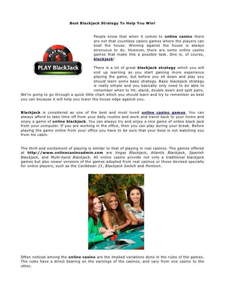 Best Blackjack Strategy To Help You Win!