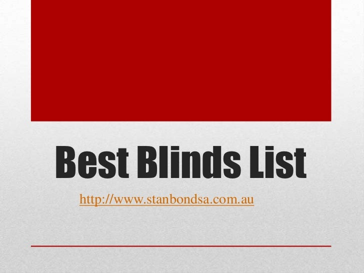 Best blinds list