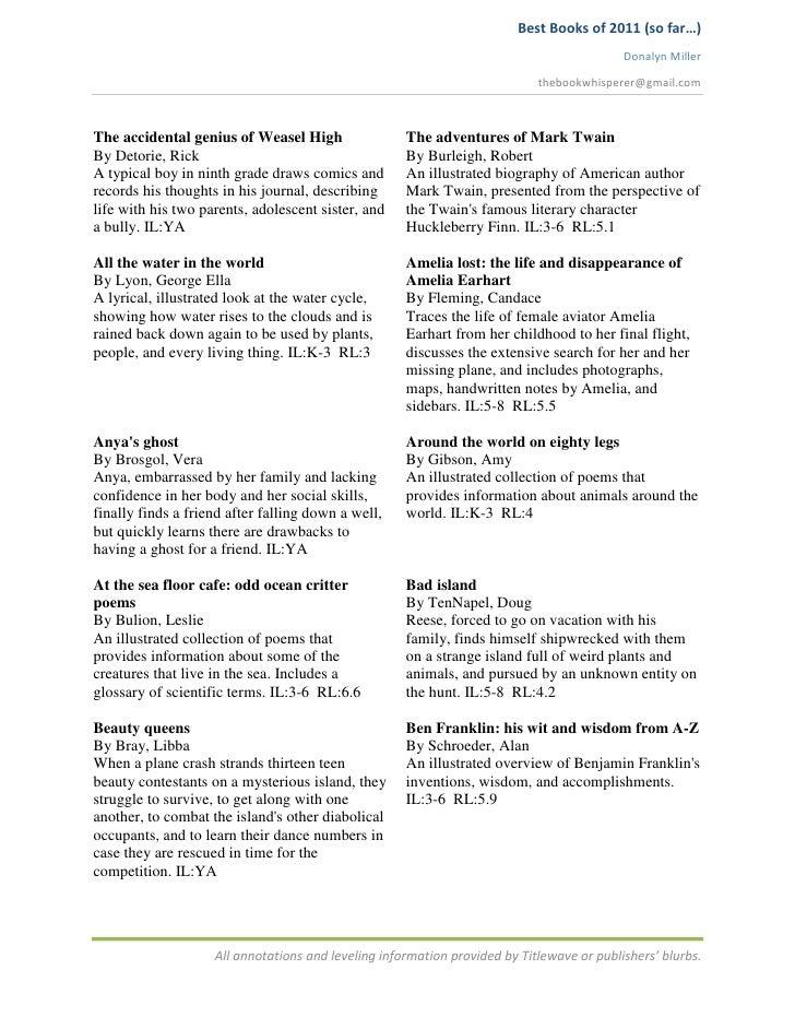 Best Books of 2011 (so far…)                                                                                           Don...
