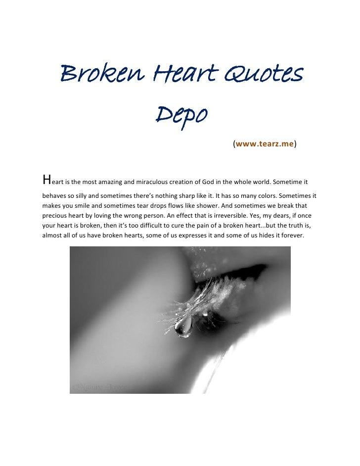 Best advice for a broken heart
