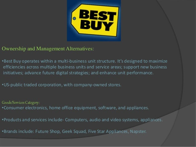 best buy company case study Case study plan background strategy mission statement swot analysis problem overview recommended solution references background best buy is a well-known multinational retailer of electronic devices and appliances.