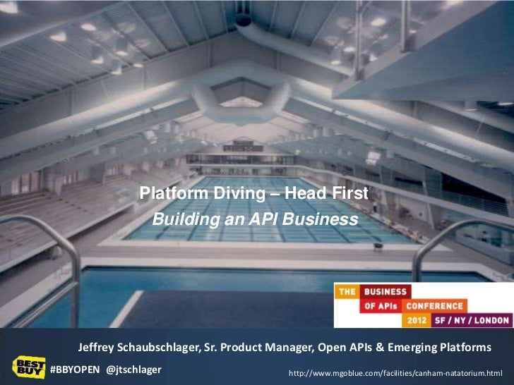 Platform Diving – Head First                  Building an API BusinessReady to dive in?     Jeffrey Schaubschlager, Sr. Pr...