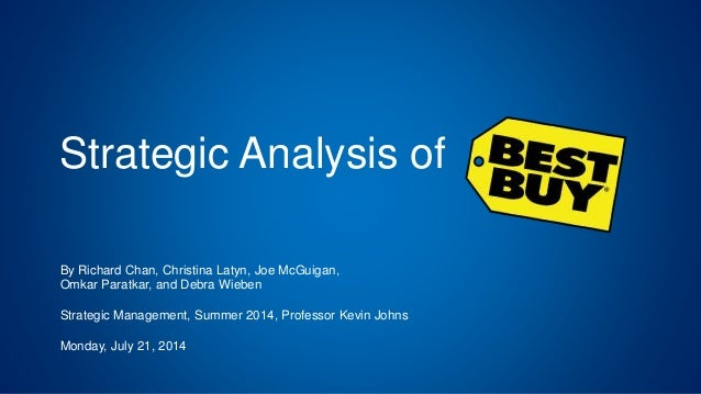 Best Buy SWOT Analysis The following SWOT analysis is for Best Buy