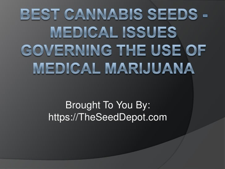 Best Cannabis Seeds - Medical Issues Governing the Use of Medical Marijuana