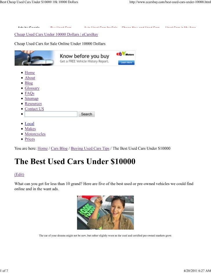 best cheap used cars under 10000 dollars. Black Bedroom Furniture Sets. Home Design Ideas