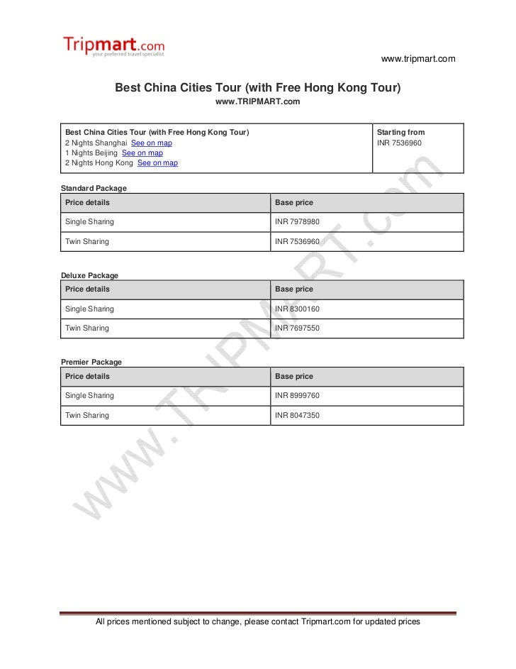 Best China cities tour  with free Hong Kong tour