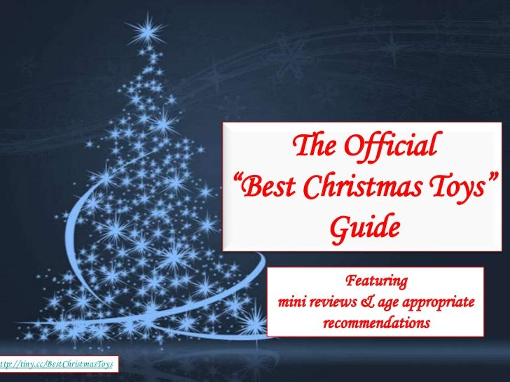 """The Official                                       """"Best Christmas Toys""""                                               Gui..."""