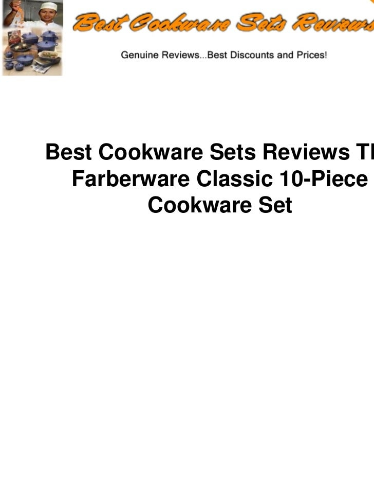 Best Cookware Sets Reviews The  Farberware Classic 10-Piece         Cookware Set