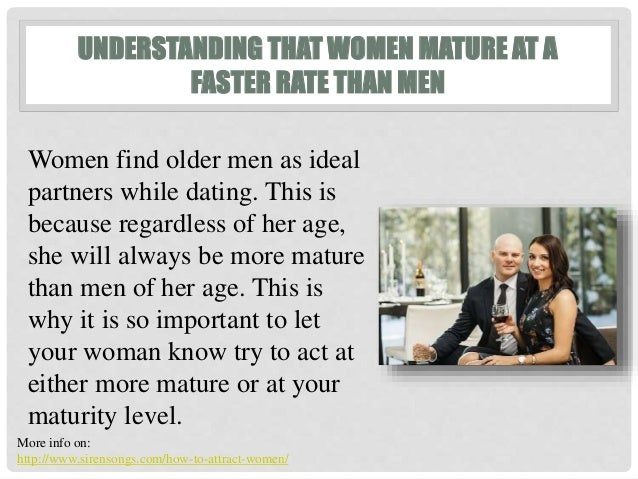 What to expect dating an older man