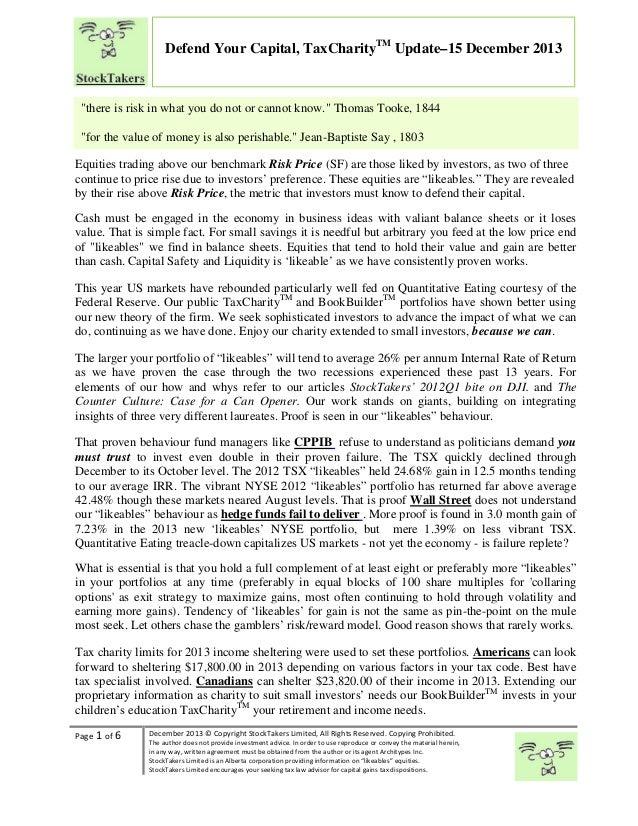 Best defense of capital tax charitytm 15dec2013