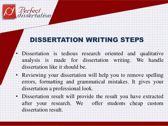 Writing dissertation steps
