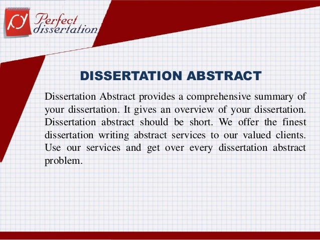 Abstract in a dissertation proposal