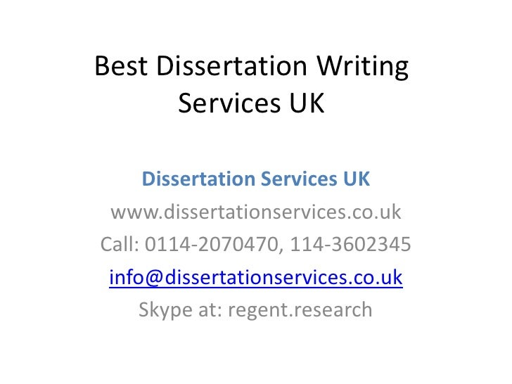 Best dissertation writing companies