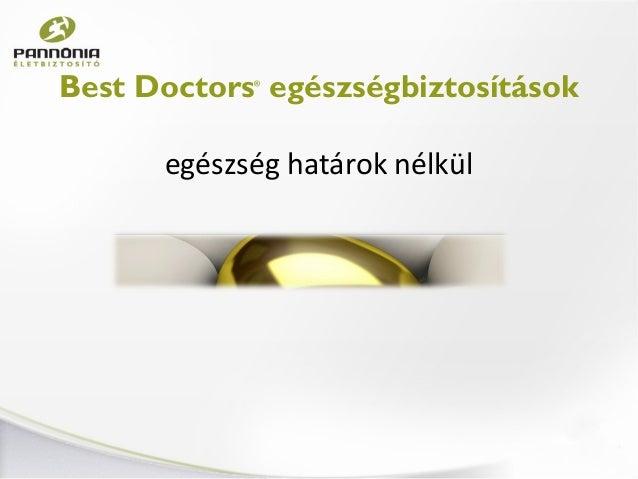 Best Doctors Egészségbiztosítás