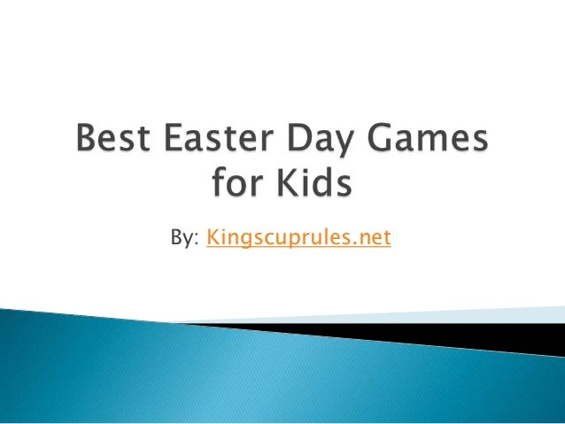 Best easter day games for kids