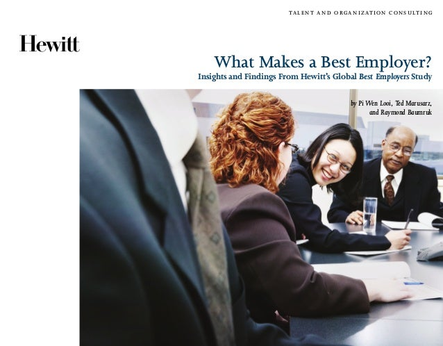 What Makes a Best Employer?