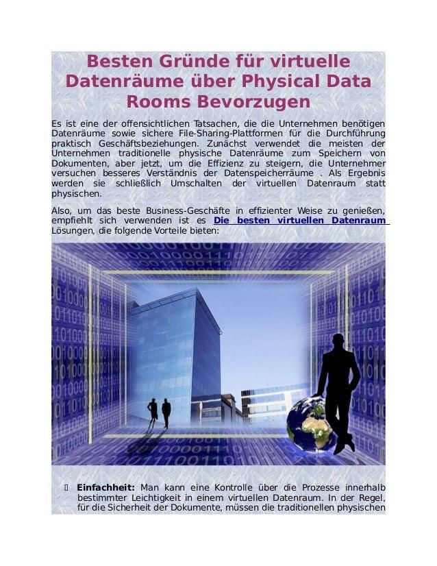 Besten Gründe für virtuelle Datenräume über Physical Data Rooms Bevorzugen Es ist eine der offensichtlichen Tatsachen, die...