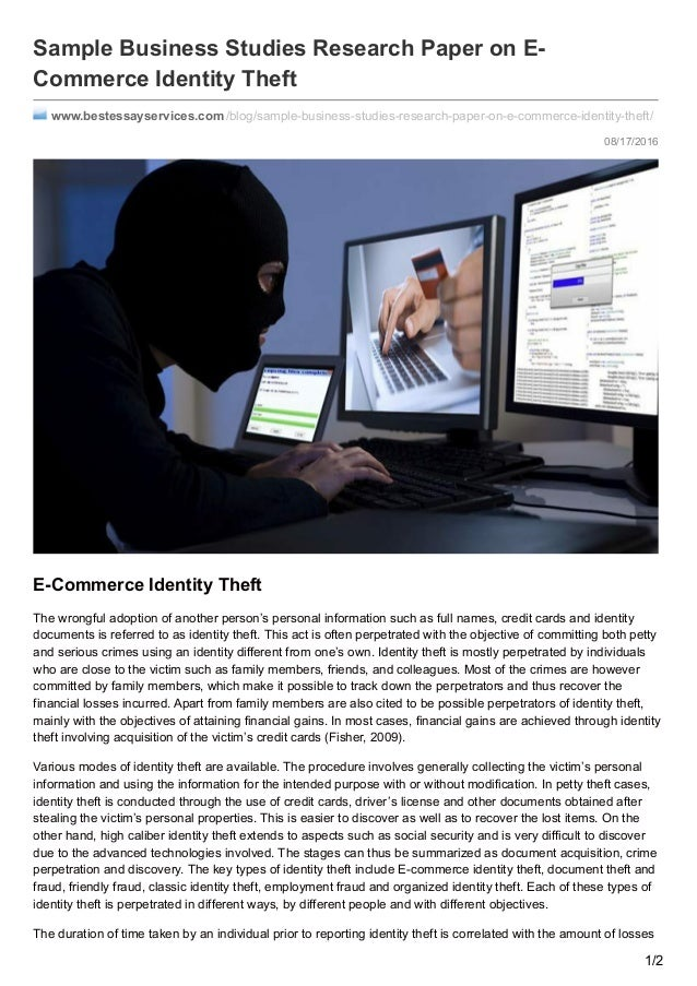 identity paper research theft