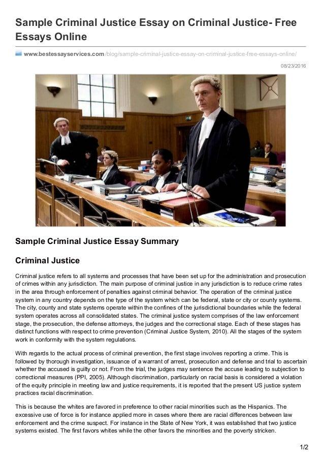 criminal justice 4 essay