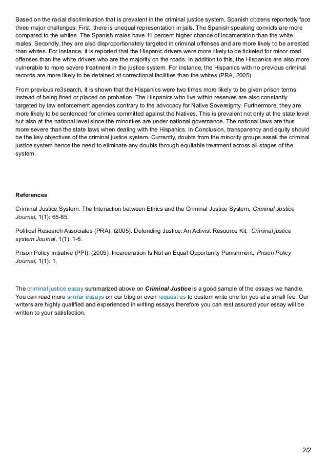 Criminal justice scholarship essay