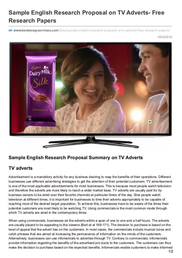 08 30 2016sample english research proposal on tv adverts freeresearch