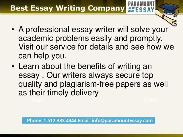 Best essay company