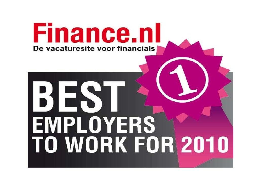 Beste werkgever financials2010