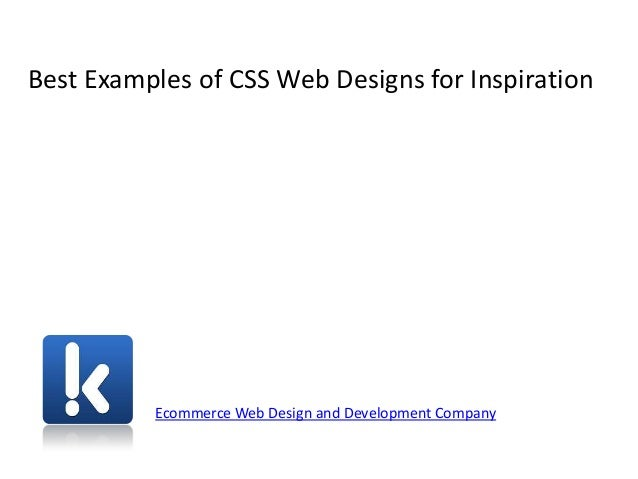 Best Examples of CSS Web Designs for Inspiration Ecommerce Web Design and Development Company