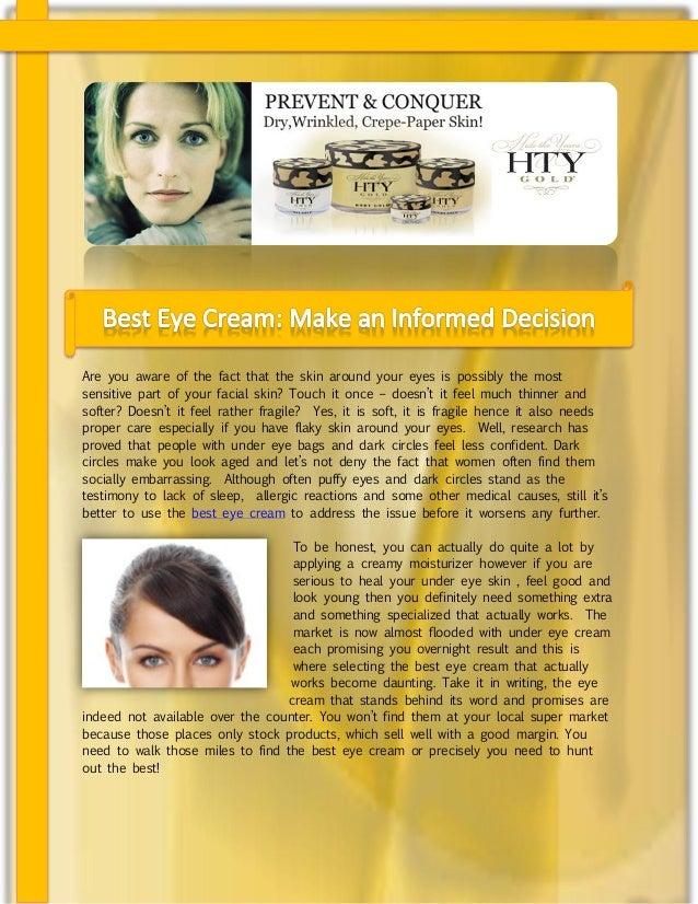 Best Eye Cream: Make an Informed Decision