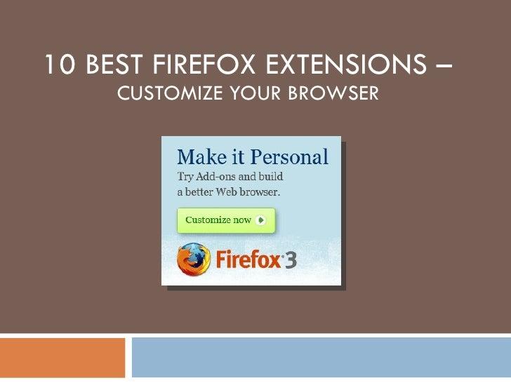 10 Best Firefox Extensions