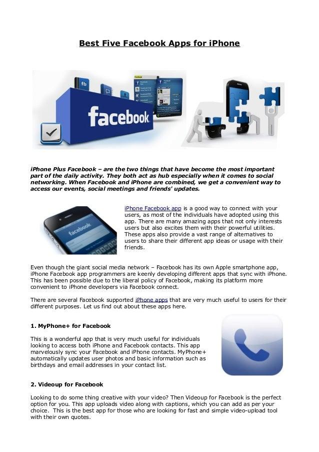 Best five facebook apps for i phone