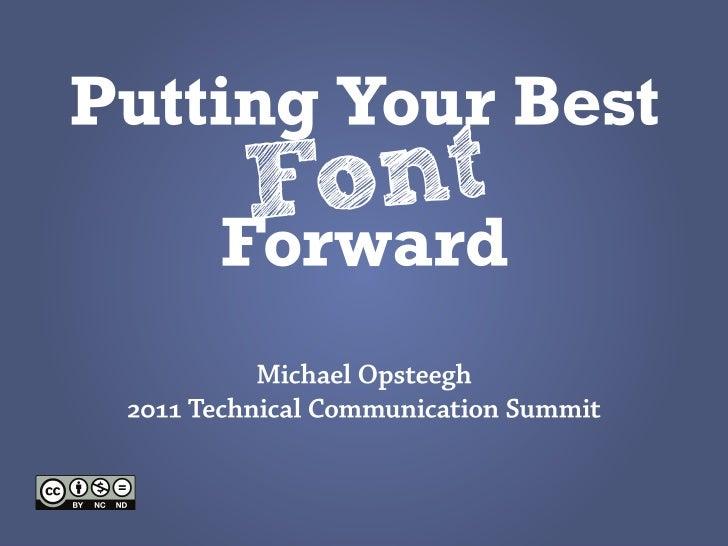 Best font forward stc web