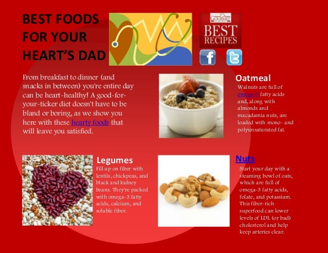 Best foods for your heart's dad