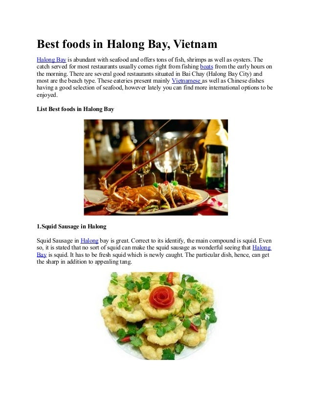 Best foods in halong bay   halongmekongcruises