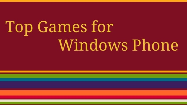 Top 10 games for windows phone 8 from september 2014